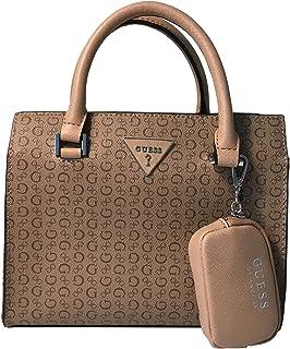 Guess Levine Crossbody Shoulder Handbag with Polished Silver Tone Hardware Sv725305 Mocha