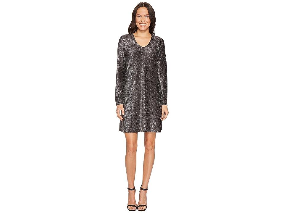 Karen Kane Sparkle Taylor Dress (Black/Silver) Women