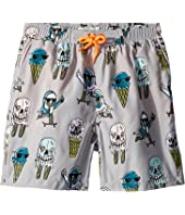 Stella McCartney Kids - Taylor Ice Cream Monster Print Swim Shorts (Toddler/Little Kids/Big Kids)