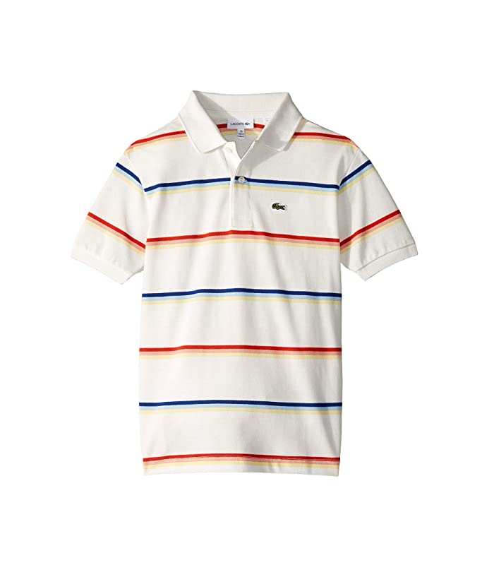c20601a0a6 Lacoste Kids Summer Lover Striped Pique Polo (Infant/Toddler/Little ...