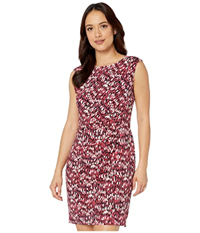 NIC+ZOE Petite Bright Burst Twist Dress (Pink Multi) Women