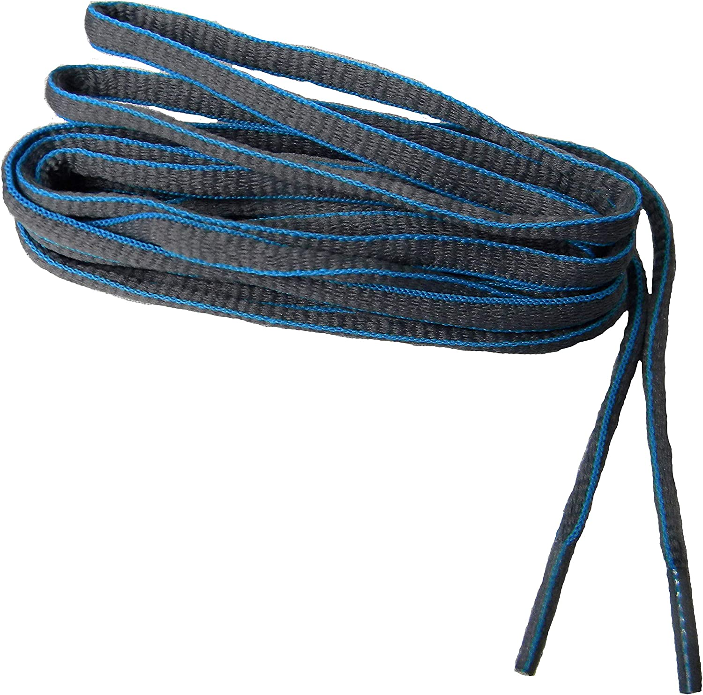 Mail order cheap GREATLACES Gray Grey w Blue Sneaker proATHLETIC 1 year warranty Oval Laces TM