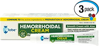 Hemorrhoid Symptom Treatment Cream, Itching, Burning & Discomfort Relief, Tube (1.8 oz) Compare to Preparation H (3-Pack)