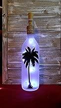 Palm Tree Wine Bottle Decoration Gift Bar Bathroom Glass