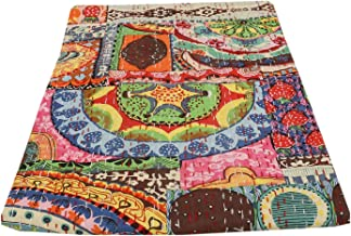 Indian Patch Work Cotton Kantha Quilt Tween Bedspreads Throw Blanket (Multi Floral) Bohemian Bedspread , Bohemian Bedding ...