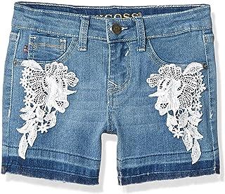 VIGOSS Big Girls' Super Stretch Denim Fashion Mid Shorts