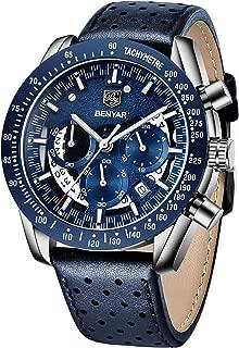 Mens Waterproof Chronograph Analog Watch-BENYAR Luxury Business Dress Watch Perfect for Birthday Gift