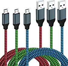 Micro USB Cable Android, 3Pack Magic-T 6ft/2m Micro USB Cable Braided USB 2.0 A Male to Micro USB Charger Fast Charging Data Cord for Android,Samsung Galaxy S7 Edge S6,Sony,Motorola,HTC,LG and More