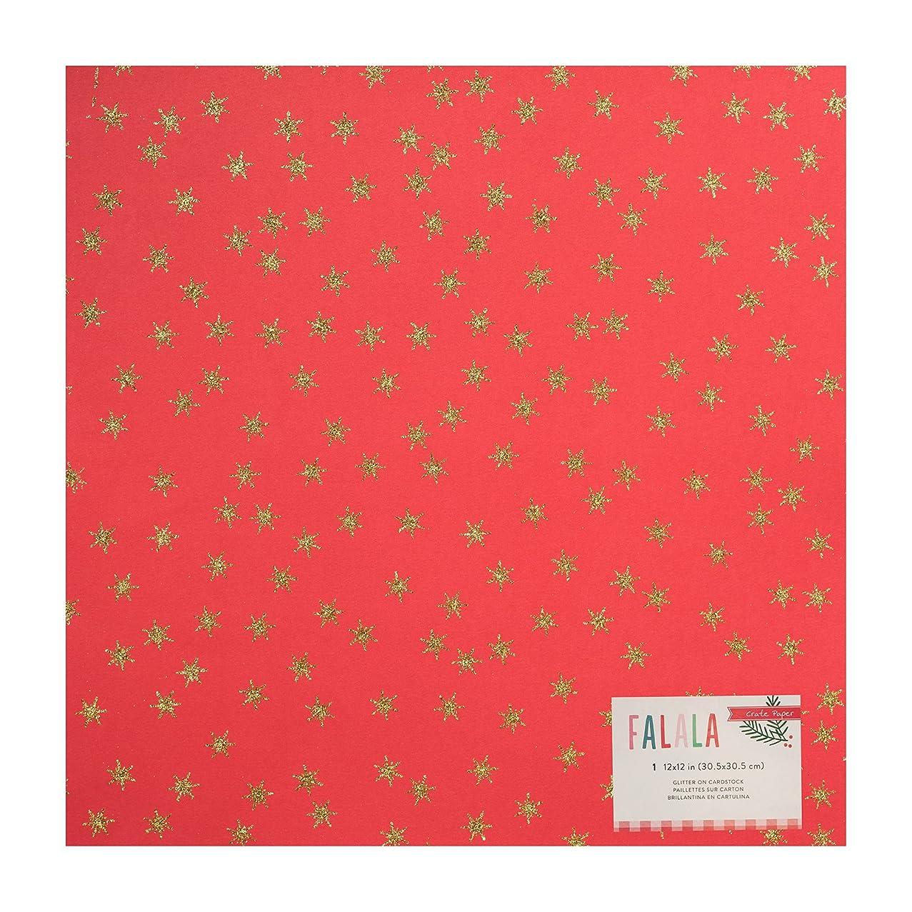 American Crafts Crate FA La 12 x 12 Inch Glitter Specialty Paper