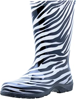 Sloggers 5006ZE06 Rain and Garden Boot with Comfort Insole, Zebra Print, Size 6