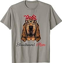 Funny Bloodhound Mom Wears Bandana Shirt For Women