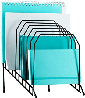 Mindspace Multi Step File Organizer | Desk File Organizer | Stackable Letter Tray | The Wire Collection, Black