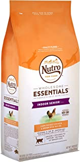 NUTRO WHOLESOME ESSENTIALS Indoor Senior Dry Cat Food Farm-Raised Chicken & Brown Rice Recipe, 6.5 lb. Bag