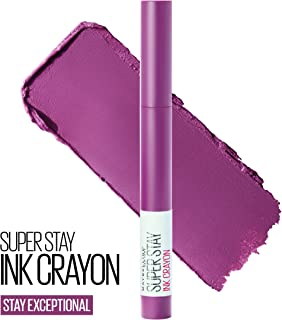 Maybelline SuperStay Ink Crayon Lipstick, Matte Longwear Lipstick Makeup, Stay Exceptional