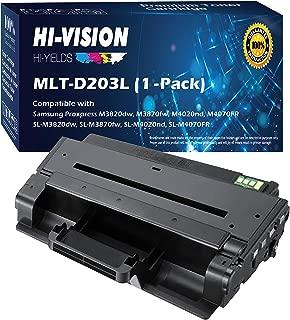 HI-Vision Compatible MLT-D203L / XAA High Yield Laser Toner Cartridge for Samsung ProXpress M3320ND, M3370FD, SL-M3820DW, M3870FW, M4020ND, M4070FR Printer (203L, Black 1 Pack)