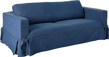 Surefit SF43634 Sofa Slipcover, Box Cushion, Black