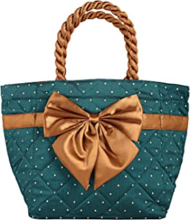 Heart Home Satin 1 Piece Women Hand Bag (Green) - CTHH10324