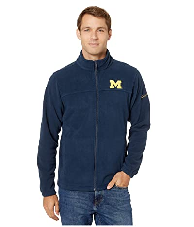Columbia College Michigan Wolverines CLG Flankertm III Fleece Jacket (Collegiate Navy) Men
