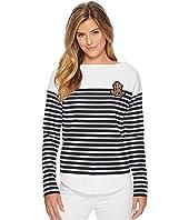 LAUREN Ralph Lauren Striped Layered Cotton Sweater