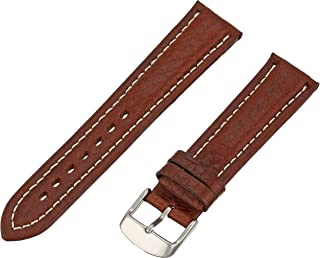 Men's 20mm Leather Watch Strap, Color:Brown (Model: MSM886RB-200)