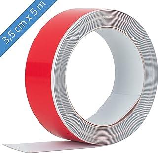 Beilheimer Cinta de hierro 5m x 3,5cm cinta adhesiva de manganeso cinta magn/ética de hierro autoadhesiva