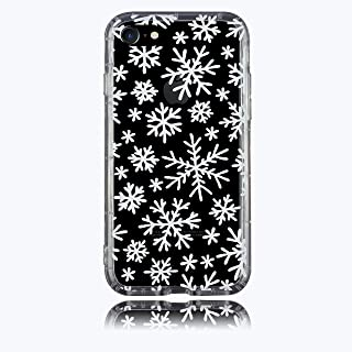 iPhone 7 case, iPhone 8 case, BRILA Cute Snowflakes Design Printed Shock Absorption Reinforced TPU Frame Protective case for iPhone 7/8 4.7 inch