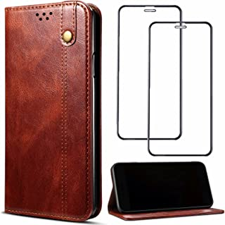 Cover for Vivo Y51S Leather Case Built-in card slot Bracket Anti-fall waterproof Anti-fingerprint fashion Magnetic adsorpt...