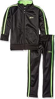 Boys' Tricot Mock Neck Jacket and Matching Jog Pant
