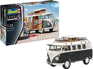 Revell RV07674 07674 VW T1 Camper Modellsats 1:24 Skala, Omålad