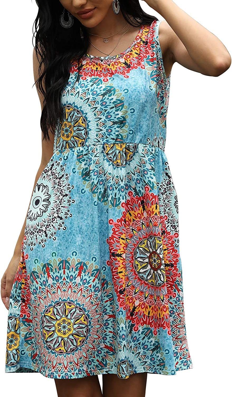 Aranoy Women's Summer Casual Tshirt Dress Beach Sundress Sexy Cover Ups with Pockets