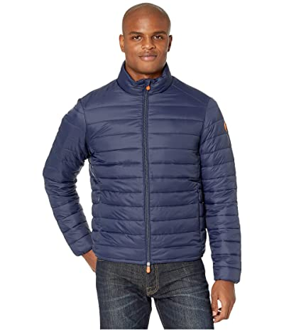 Save the Duck Giga 9 Puffer Jacket with Faux Sherpa Lining (Navy Blue) Men