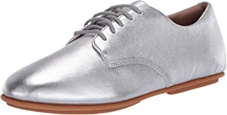 Fitflop Women's Adeola Leather Lace-Up Derbys Oxford, Silver, 6.5 UK