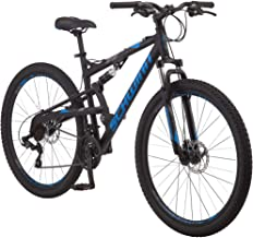 Schwinn S29 Mens Mountain Bike, 29-Inch Wheels, 18-Inch/Medium Aluminum Frame, Dual-Suspension, Mechanical Disc Brakes, Mu...