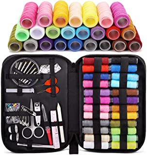 Balight Sewing Kit, DIY Sewing Supplies with 24 XL Spools of Sewing Thread, 30 Sewing Needles, Tape Measure, Black Case and Sewing Accessories for DIY, Home, Travel, Beginner, Adults