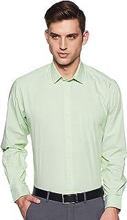 Amazon Brand - Arthur Harvey Men's Solid Regular Fit Full Sleeve Cotton Formal Shirt