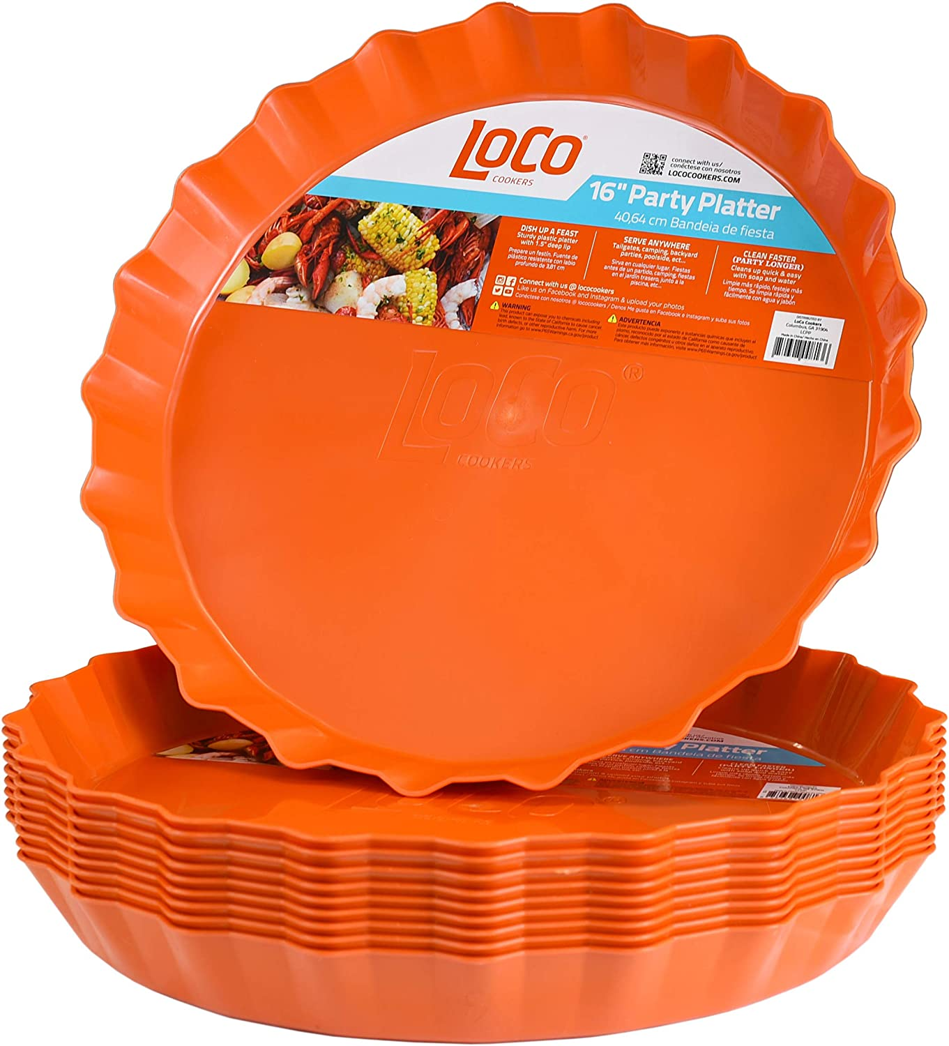 LOCO COOKERS Discount is also underway LCPP10 Party Platter Purchase Orange LoCo