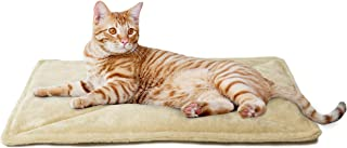 FurHaven Pet Heating Pad | ThermaNAP Faux Fur Self-Warming Bed Mat for Dogs & Cats, Cream