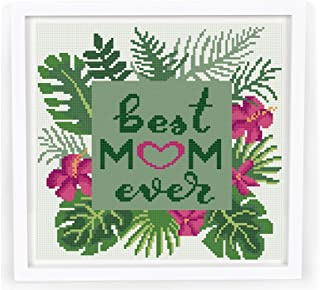 Cross stitch patterns pdf, Mothers Day cross stitch, flowers floral tropical cross stitch pattern, modern counted easy cross stitch chart, gift for mom DIY. MATERIALS ARE NOT INCLUDED!