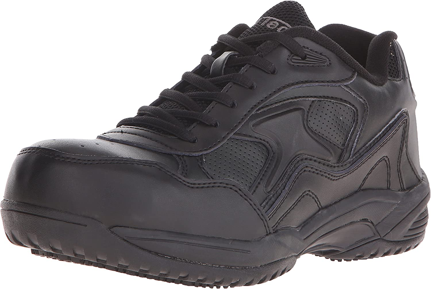 Ad Tec Women's Utility Footwear Leather Work Shoes for Women- Lace Up and Acid Proof with Non Skid Oil Resistant Outsole, Black