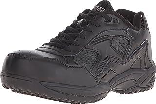ADTEC Women's Black Lace Work Shoe - Composite Safety Toe, Slip Resistant, Breathable + Comfortable 7.5 M US