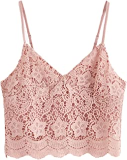 lace tops pink