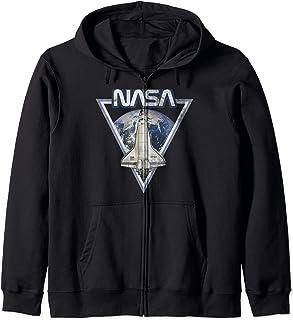 NASA Triangle Earth Logo Shuttle Flight Sweat à Capuche