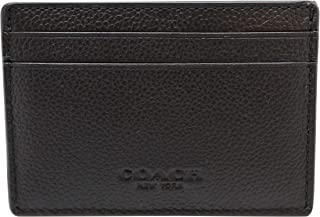 Mens Money Clip Card Case in sport calf leather F75459 Black