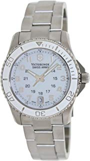 Victorinox Swiss Army White Dial Stainless Steel Quartz Ladies Watch 249051