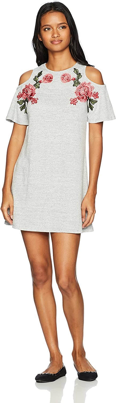 SPEECHLESS Womens Cold Shoulder Sweaterknit Dress (Junior's) Dress