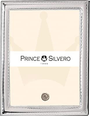 SILVERO Silver Overlay 925 Sterling Hammered Scroll 8x10 Frame