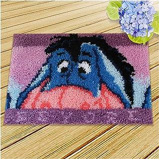 Tapis De Bricolage Fabrication Kit Canapé Coussin Latch Crochet Kit D'artisanat, Crochet Fil Kits Hooking Tapis pour Adult...