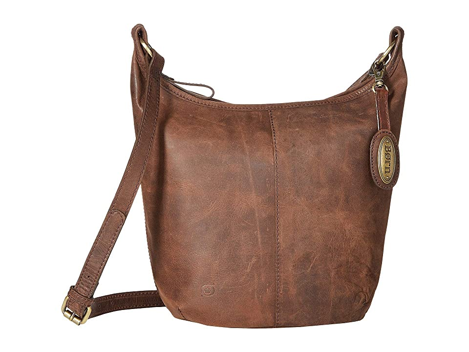 270f1c52011 Born Plymouth Distressed Bucket Hobo (Chocolate) Handbags