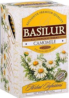 Basilur Camomile Tea | 100% Pure Camomile | 25 Envelops