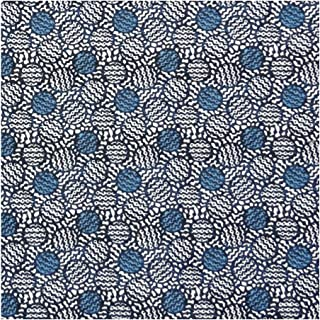 Blue Abstract Print 'Achilles' Liberty Lawn Cotton Handkerchief